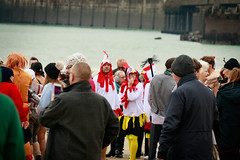 What are you... Chicken? (BeerAndLoathing) Tags: 2018 december folkestone englandtrip england winter uktrip people canon kent sea beach winter2018 canoneos77d 77d events crowds trip boxingday seafront cold uk sigma18300mm