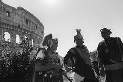 (Veni, Vidi, Vici) (Robbie McIntosh) Tags: leicam9p leica m9p rangefinder streetphotography 35mm leicam autaut candid strangers leicaelmarit28mmf28iii elmarit28mmf28iii elmarit 28mm man blackandwhite monochrome bw rome roma gladiators centurions