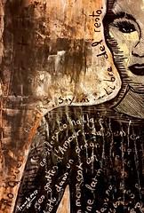 Mademoiselle Elodie (franck.sastre) Tags: visage art painting picture palabras black mujer