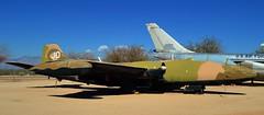USAF Martin B-57E Canberra light bomber, 1955 - Pima Air & Space Museum, Tucson, Arizona. (edk7) Tags: nikond3200 edk7 2013 us usa arizona tucson arizonaaerospacefoundation pimaairspacemuseum unitedstatesairforce usaf martinb57ecanberra 1955 sn554274 targettug bomber reconnaissance wrightj56w5turbojet7200lbf jet airplane plane aviation military aircraft twinengine