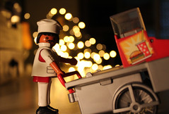 Crazy food on Crazy Tuesday! (Argyro Poursanidou) Tags: crazytuesday bokeh toy cook food crazy night light playmobil still life