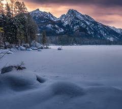 Traces in the Snow (Croosterpix) Tags: landscape nature winter snow morning mountains hintersee bayern bavaria