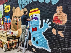 The Artist and His Tools (Kool Cats Photography over 11 Million Views) Tags: architecture artistic art abstract ladder photography painting wallart oklahoma oklahomacity ricohgrii streetphotography streetart