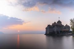 Château de Chillon - Switzerland (Alexis Rangaux) Tags: chateau suisse switzerland chillon paysage landscape nature architecture sunset cloud lake travel travellers