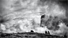 Background Giants... (Ody on the mount) Tags: anlässe berge dolomiten em5ii furchetta gipfel himmel mzuiko40150 omd olympus rahmen sassrigais südtirol urlaub wanderung wolken bw clouds frame monochrome mountains sw summits stulrichingröden bozen italien it
