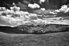 The Wide Expanse (Never Exceed Speed) Tags: trailridgeroad blackandwhite clouds rmnp scenery vista mountains colorado landscape