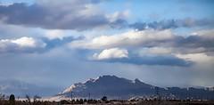 Sunburst On Frenchman Mountain (brucekester@sbcglobal.net) Tags: frenchmanmountain lasvegas henderson nevada storm sky sunburst clouds