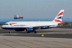 British Airways G-EUUX 6-2-2019 (Enda Burke) Tags: gib gibraltar lxgb avgeek aviation airplane airport arrival airbus apron canon canon7dmk2 britishairways a320 airbusa320 flight travel taxiing taxiway ship ships geuux