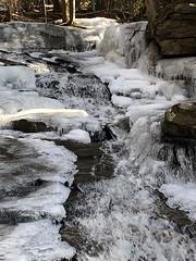 Ice Stream (adamsshawn390) Tags: ice stream water winter pelham ma snow