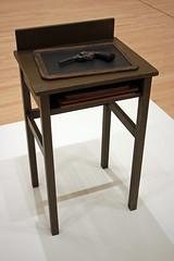 Table with Gun, by Vija Celmins (JB by the Sea) Tags: sanfrancisco california december2018 financialdistrict sanfranciscomuseumofmodernart sfmoma vijacelmins