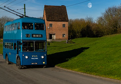 Bus (S Hancock) Tags: sony a7 bus blue black country moon house old no 32 landscape transport