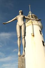 Diving Belle (Derbyshire Harrier) Tags: vincent'spier 2019 scarborough lighthouse yorkshire february winter sculpture craigknowles art harbour divingbellesculpture