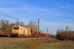 BB75096 sur un Mâcon-Avignon (AziroxY) Tags: trains trainspotting train infra bb75000 wagon fret photo photographie plm photosncf diesel 1500v france