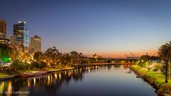Dawn over the Yarra river, Melbourne, Australia (Jhopne) Tags: dawn reflection victoria yarra yarrariver bluehour melbourne jan19 australia canonef2470mmf28lusm city cityscape citylights canoneos5dmarkii sky buildings