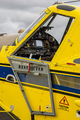 Air Tractor Cockpit (buddythunder) Tags: wings over wairarapa hoodaerodrome airplane masterton newzealand 2019 air tractor cockpit gauges stick hatch