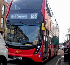 London Central EH81 on route 188 Greenwich 02/03/19. (Ledlon89) Tags: bus buses london transport tfl londonbus londoncentral goaheadlondon londonbuses transportforlondon londontransport