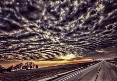 on the road again...(HSS) (BillsExplorations) Tags: sliderssunday hss slide sunset sunrise countrysky sky clouds weather road ontheroadagain roadtrip highway hdr snapseed