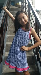 stairway portrait (ghostgirl_Annver) Tags: asia asian annver girl teen preteen child kid daughter sister family portrait stairway blue