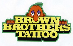 Brown Brothers Tattoo, Chicago sticker (fotoflow / Oscar Arriola) Tags: brown brothers tattoo chicago il illinois midwest humboldt park us usa united states america american sticker label design character typeography type