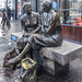 THE MEETING PLACE STATUE LOCATED NEAR THE HALFPENNY BRIDGE IN DUBLIN [LOCALLY KNOWN AS THE HAGS WITH THE BAGS]-149838