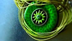 Vintage ornament (pastadimama) Tags: ornament vintage green macro macromondays jewelry vintageornament
