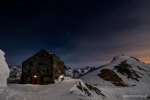 Britannia Hütte pod gwiazdami