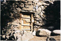 (grousespouse) Tags: ladakh 35mm analog film canonautoboyii sureshot autoboy analogue kashmir india himalayas stone house light colorfilm colourfilm argentique contrast dusk scanned croplab grousespouse 2018 kodakcolorplus200 door
