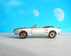 Corgi Toys No. 343 Pontiac Firebird 1969 With Red Spot Wheels : Diorama Futuristic Double Moon - 5 Of 13 (Kelvin64) Tags: corgi toys no 343 pontiac firebird 1969 with red spot wheels diorama futuristic double moon