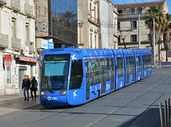 Montpellier, Rue Jules Ferry 12.02.2019 (The STB) Tags: montpellier tram tramway streetcar strassenbahn strasenbahn publictransport citytransport öpnv transportpublic france french
