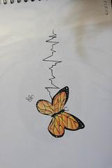 Popillion ligne de vie (pepette.flaux) Tags: papilion daw dessin vie coueur