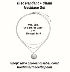 Today's Featured Item: Disc Pendant + Chain Necklace Set Reg. $88, On Sale For ONLY $74 Through 3/14 Shop: https://www.chloeandisabel.com/boutique/thecelticpearl/products/N652CLSS/disc-pendant-+-chain-necklace-set  Top off your look with a trio of minimal (thecelticpearl) Tags: love sale trending chain spring2k19 set shop trend crystal buy lifetime guarantee cubiczirconia chloeandisabel daily feature trendy disc trends core rhodium shopping jewelry necklace product crystals boutique accessories thecelticpearl spring convertible pendant ootd candi online shiny style fashion