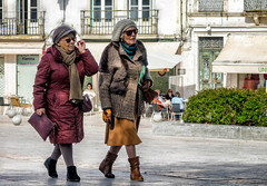 'Today in Microfashion' (Canadapt) Tags: santarém street women elders spring stroll walk town square dressed portugal canadapt