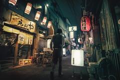 Namba Nights (ScottSimPhotography) Tags: japan osaka japanese night city cityscape movie film noir moody drama dramatic nightscape namba cyberpunk downtown asia tokyo