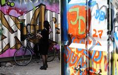 Munich_Graffiti_Conatiner (ante_fischer) Tags: münchen munich germany street streetlife strasse strase strassenleben graffiti bunt container mädchen bike fahrrad begegnung meeting colour tags sprayer girl