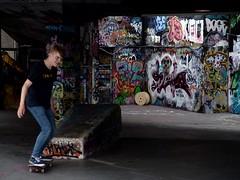 #015 - South Bank Skate Park, London (Andrea Gregorini) Tags: 015 london uk skate park bank thames graffiti city