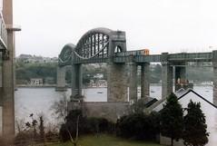 Hastings DEMU On The Royal Albert Bridge December 1985 (clivepsmithmarch1960) Tags: saltash hastingsdemu demu1032 royalalbertbridge gunnislakegoliath