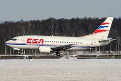 OK-WGD (PlanePixNase) Tags: hannover eddv haj aircraft airport planespotting langenhagen boeing 737 737500 csa