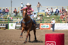 Strathmore Stampede 2018 (tallhuskymike) Tags: strathmorestampede rodeo event strathmore stampede 2018 prorodeo cowgirl horse action alberta outdoors barrelracing