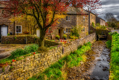 The Bridge Cottages (Kev Walker ¦ 10 Million Views..Thank You) Tags: architecture clouds england lancashire outdoor sky snow town village barley beautiful beautifulvillage bluesky british buildings cloudy cold council covered crossroad downham english famous floralforeground hill houses icon information landscape near nelson parish parks path pendle rural sign signpost street sunny symbols tourism travel under urban view walking weather winter wood bridge cottages