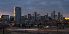 Cloudy Sunrise in Denver (mnryno) Tags: sunrise skyline colorado denver