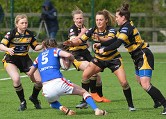 Ready To Pounce (Feversham Media) Tags: yorkcityknightsladiesrlfc wakefieldtrinityladiesrlfc womenssuperleague womensrugbyleague rugbyleague york yorkstjohnsuniversity