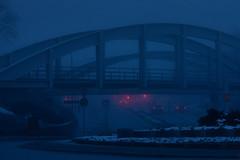 Uppsala, March 7, 2019 (Ulf Bodin) Tags: night sverige mist streetphotography outdoor trafficlight traffic lights strandbodgatan canonef100400mmf4556lisiiusm strandbodkilen car sweden uppsala fog kväll canoneosr dimma urbanlife uppsalalän se