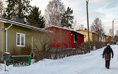 Helsinki in December (Ninara) Tags: 2018 helsinki joulukuu december pakila länsipakila maunula winter christmas woodenhouse house finland snow cold rintamamiestalo