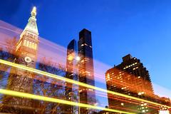 Madison Square (erichudson78) Tags: usa nyc newyorkcity manhattan madisonsquare building sky skyscraper ciel gratteciel lighttrail lights longexposure poselongue canonef24105mmf4lisusm canoneos6d bluehour heurebleue