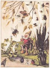 Das fröhliche Jahr / Troll auf Wanderfahrt / Bild 10 (micky the pixel) Tags: buch book livre kinderbuch childrensbook gondromverlag schwagersteinleinkunstanstalt dasfröhlichejahr hugokocher trollaufwanderfahrt zwerg dwarf kabouter käfer bug schmetterling butterfly frosch frog