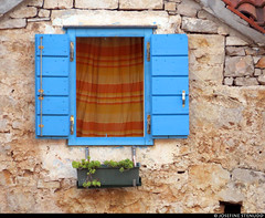 20170706_06 Window with blue shutters & orange curtain | Maslinica, Šolta, Croatia (ratexla) Tags: ratexlasinterrailtrip2017 maslinica šolta croatia hrvatska kroatien 6jul2017 2017 canonpowershotsx50hs interrail interrailing eurail eurailing tågluff tågluffa tågluffning travel travelling traveling journey epic europe earth tellus photophotospicturepicturesimageimagesfotofotonbildbilder wanderlust vacation holiday semester trip backpacking tågresatågresor resaresor europaeuropean sommar summer ontheroad beautiful blue stone house houses stenhus hus window windows fönster cute söt sött söta sweet windowshutters fönsterluckor blå favorite