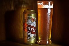 Castle Lager (roanfourie) Tags: flickrlounge weeklytheme productphotography castlelager beer charlesglass nikon d3400 nikkor prime 35mm f18 dx raw gimp february 2019