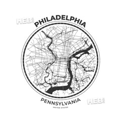 [Print Templates] [U.S.A.] T-shirt map badge of Philadelphia, Pennsylvania (Hebstreits) Tags: america american apparel art artwork background badge black city clothing college design designs emblem fashion graphic graphics grunge illustration label map pennsylvania philadelphia phl poster print retro shirt sign souvenir stamp states street style symbol t tshirt tee textile texture typography united urban usa varsity vector vintage