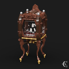 Haunted Doll - Back (Corvus Auriac MOCs) Tags: lego moc afol art design creation bricks spooky creepy haunted doll showcase minifigure