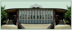 60er Jahre  Limelightspiegelung in Pastell bleu (diezin) Tags: 2604 2fachspiegelung album0 album7 bastelarbeiten deutschland diezin experimente flickr fotomontage kölle köln kodakpixproaz421 montagen reflexion spiegelung unpolar